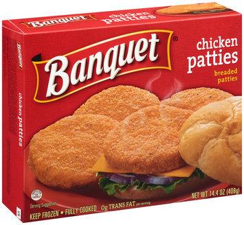 Banquet® Breaded Chicken Patties 14.4 oz. Box