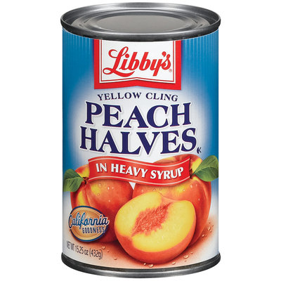 Libby's® Yellow Cling Peach Halves in Heavy Syrup