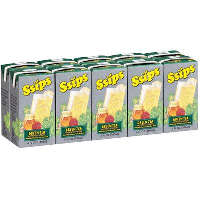 Ssips® Green Tea with Honey & Ginseng 10-6 oz Cartons