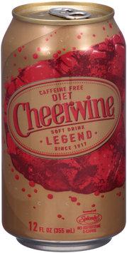 Cheerwine® Caffeine Free Diet Cherry Soft Drink Legend 12 fl. oz. Can