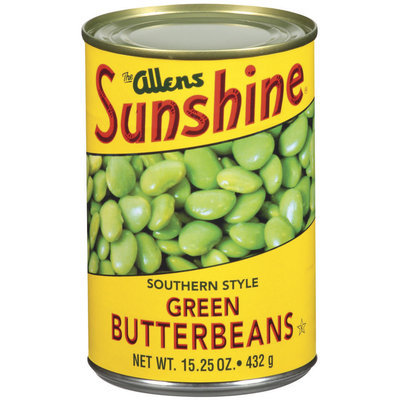 The Allens Sunshine Green Southern Style Butter Beans 15.25 Oz Can