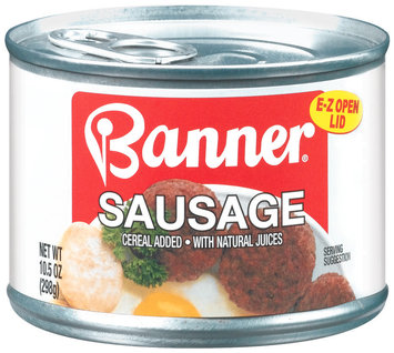 Banner W/Natural Juices Sausage 10.5 Oz Can