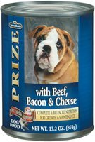 Springfield Prize W/Beef Bacon & Cheese Dog Food 13.2 Oz Can