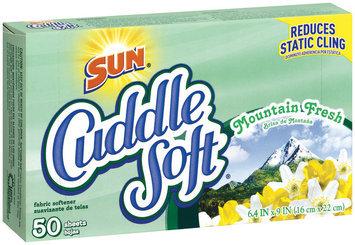 Cuddle Soft Mountain Fresh Fabric Softener Sheets 50 Ct Box