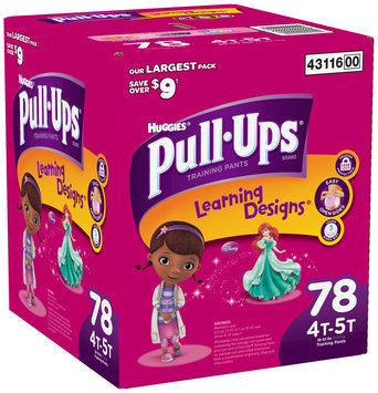 Huggies® Pull Ups® Training Pants Learning Designs® Girls 4T-5T 78 ct Box