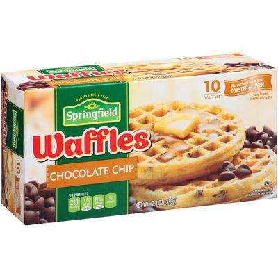 Springfield® Chocolate Chip Waffles 12.3 oz. Box