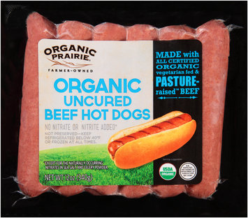 Organic Prairie® Organic Uncured Beef Hot Dogs 12 oz. Pack
