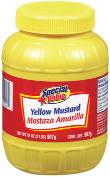 Special Value Yellow Mustard 32 Oz Plastic Bottle
