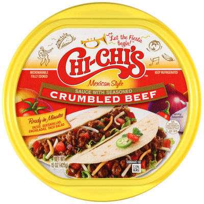Chi-Chi's™ Mexican Style Sauce With Seasoned Crumbled Beef 15 oz. Tub