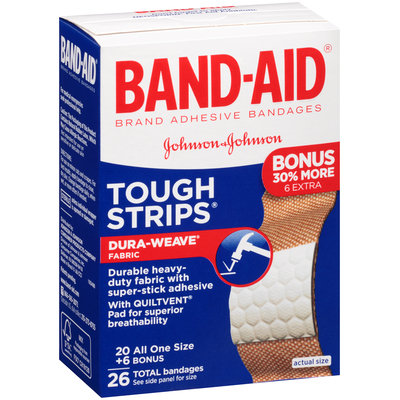 Band-Aid® Brand Tough Strips® All One Size Adhesive Bandages 26 ct Box