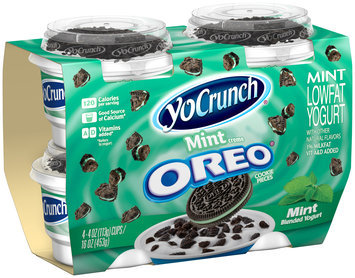 YoCrunch® Mint Lowfat Yogurt with Mint Creme Oreo® Cookie Pieces 4-4 oz. Cups