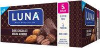 LUNA® Dark Chocolate Mocha Almond Nutrition Bars 12 ct Box