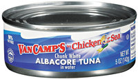 VAN CAMP'S Chicken of The Sea Albacore Chunk White In Water Tuna 5 OZ CAN