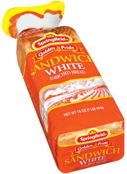 Springfield Sandwich White Bread 16 Oz Bag