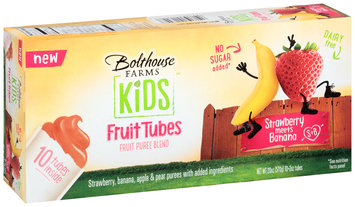 Bolthouse Farms Kids™ Strawberry Meets Banana Fruit Puree Fruit Tubes 10 ct Box