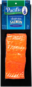 Pacific Sustainable Seafood™ Original Hardwood Smoked Wild Keta Salmon 4 oz. Pack