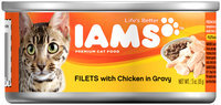 Iams™ Filets with Chicken in Gravy Cat Food 3 oz. Can