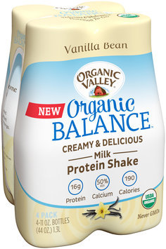 Organic Valley® Organic Balance™ Vanilla Bean Protein Shake 4-11 oz. Bottles