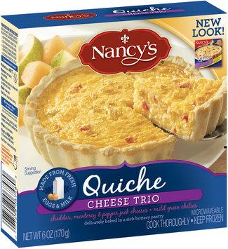 Nancy's Cheese Trio Quiche 6 Oz Box