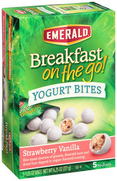 Emerald® Strawberry Vanilla Breakfast on the Go™ Yogurt Bites 5-1.25 oz. Pouches