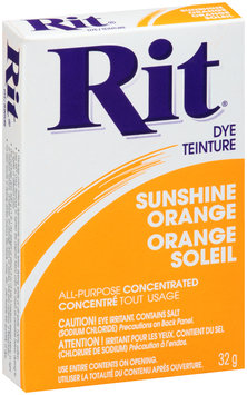 Rit® Sunshine Orange All-Purpose Concentrated Dye 32g Box