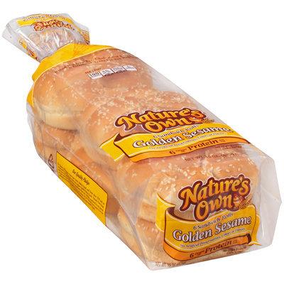 Nature's Own® Golden Sesame Sandwich Rolls 6 ct Bag