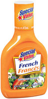 Special Value French Dressing 16 Oz Plastic Bottle