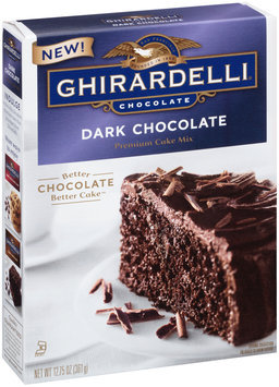Ghirardelli® Dark Chocolate Premium Cake Mix