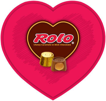 Rolo® Valentine's Chewy Caramels in Milk Chocolate 8 oz. Heart Box