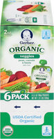 Gerber® 2nd Foods® Organic Veggies Peas, Carrots & Beets Baby Food 6-3.5 oz. Pouches