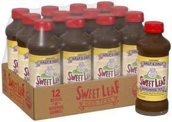 SWEET LEAF USDA-CERTIFIED ORGANIC ICED TEA, Lemonade Half & Half 16-ounce plastic bottles