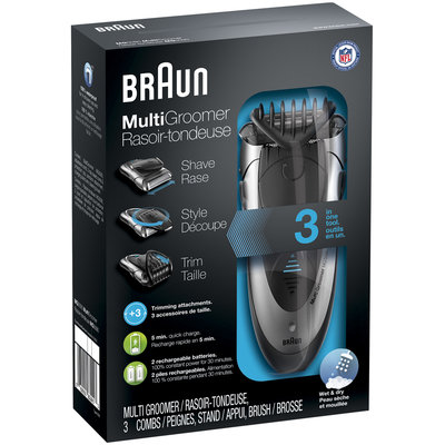 Multigroomer Braun Wet & Dry Multi Groomer MG5090 – Shave, trim & style. All in one