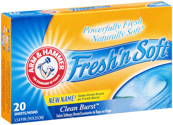 ARM & HAMMER™ Fresh'n Soft Clean Burst Fabric Softener Sheets