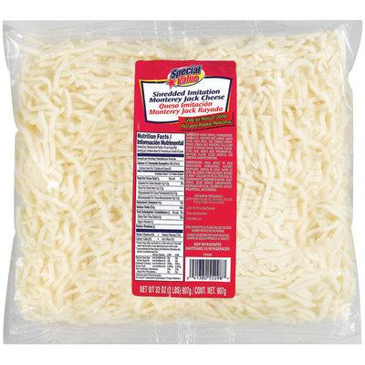 Special Value Shredded Imitation Monterey Jack Cheese 32 Oz Bag