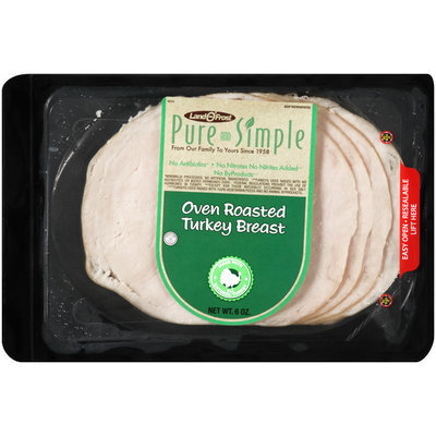 Land O' Frost® Pure and Simple Oven Roasted Turkey Breast 6 oz. Pack