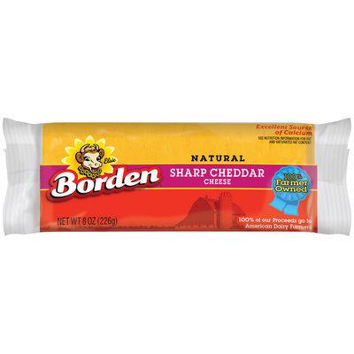 Borden Sharp Cheddar Cheese, 8 oz