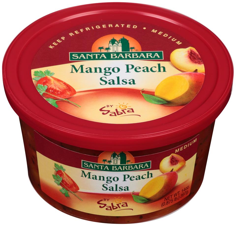 Santa Barbara® Mango Peach Medium Salsa by Sabra® 14 oz. Tub