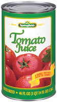 Springfield 100% Pure Tomato Juice 46 Oz Can