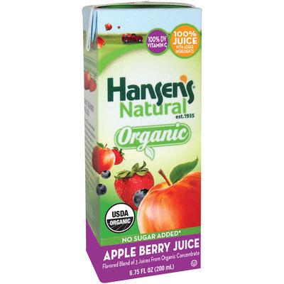 Hansen's® Natural Organic Apple Berry 100% Juice 6.75 fl. oz. Aseptic Pack