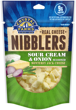 Crystal Farms® Cheese Nibblers Sour Cream & Onion Seasoned Monterey Jack Cheese 1.5 oz. Package