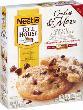 Nestlé TOLL HOUSE Cookies & More Cookie Baking Mix with Semi-Sweet Chocolate Morsels, 18.5 oz Box