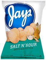 Jay's® Salt N' Sour Flavored Potato Chips 1.875 oz. Bag