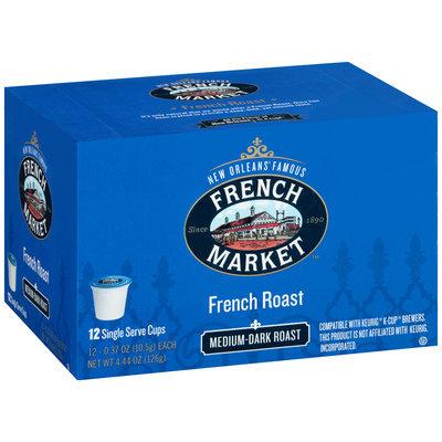 French Market™ Medium-Dark Roast French Roast Coffee Single Serve Cups 12 ct Box