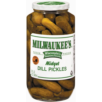 Milwaukee's Midget Dill Pickles 32 Oz Jar