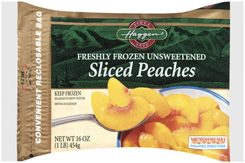 Haggen®,Freshly Frozen Unsweetened Sliced Peaches, 1lb