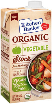 Kitchen Basics® Organic Vegetable Cooking Stock 32 oz. Aseptic Pack