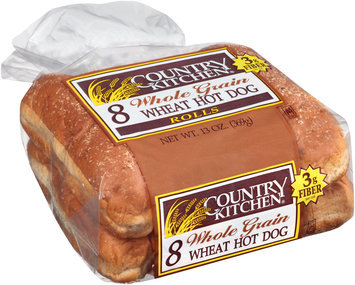 Country Kitchen® Whole Grain Wheat Hot Dog Rolls 8 ct Pack