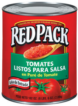 RedPack Salsa-Ready In Tomato Sauce Tomatoes 102 Oz Can