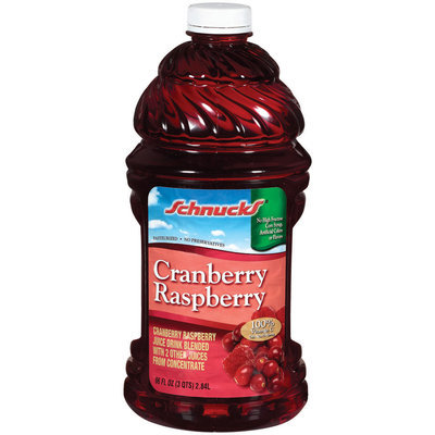 Schnucks Cranberry Raspberry Juice Drink 96 Oz Plastic Bottle