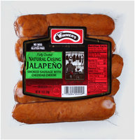 Wimmer's® Natural Casing Jalapeno Smoked Sausage with Cheddar Cheese 5 ct Pack